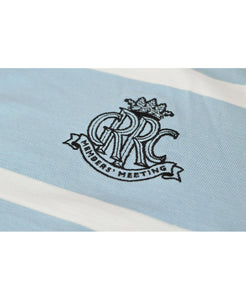Goodwood 78th Members Meeting Cotton Mens Blue White Rugby Shirt Logo
