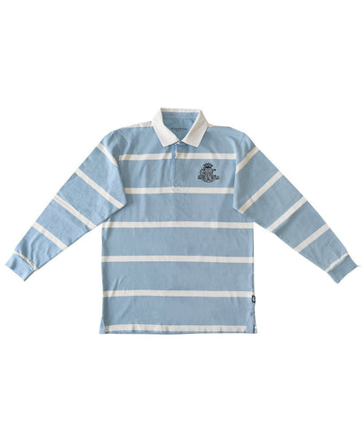 Goodwood 78th Members Meeting Cotton Mens Blue White Rugby Shirt