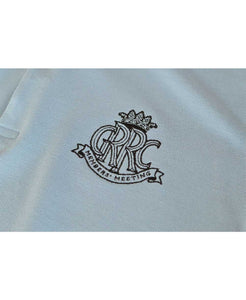 Goodwood 78th Members Meeting Cotton Mens Light Blue Polo Shirt Arm Logo