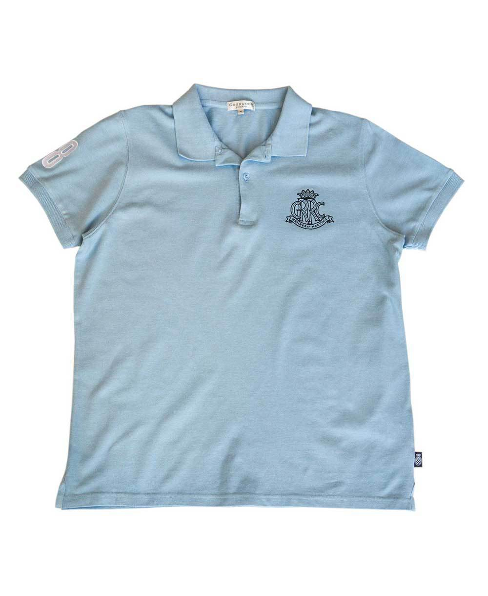 Goodwood 78th Members Meeting Cotton Mens Light Blue Polo Shirt