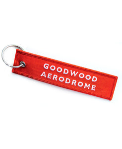 Goodwood Aerodrome Remove Before Flight Red Key Chain Reverse