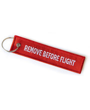 Load image into Gallery viewer, Goodwood Aerodrome Remove Before Flight Red Key Chain