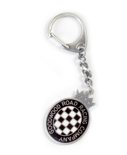 Goodwood Black Chequerboard Key Chain