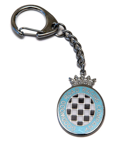 Goodwood Blue Chequerboard Key Chain