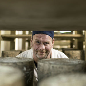 Goodwood's artisan cheesemaker, Bruce Rowan, in the cheese room at Goodwood.