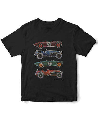 Goodwood Cotton Mens Black Cartoon Car T Shirt
