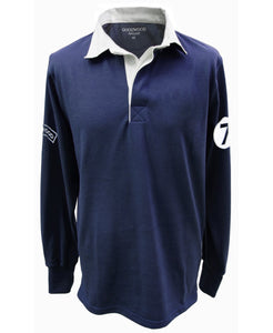 Goodwood Cotton Mens Stirling Moss Number 7 Navy Rugby Shirt