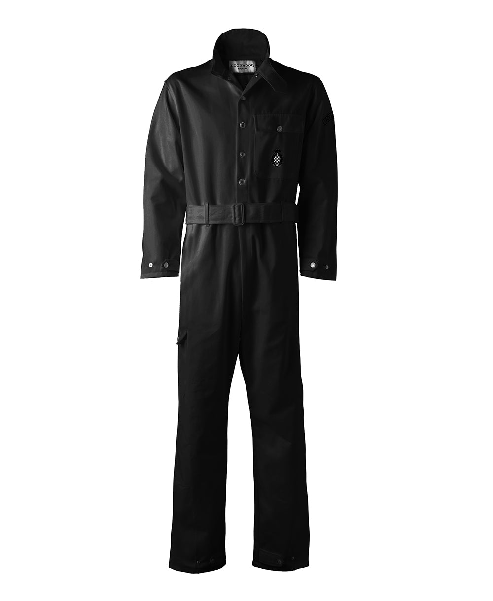Goodwood Black Cotton Unisex Grrc Overalls