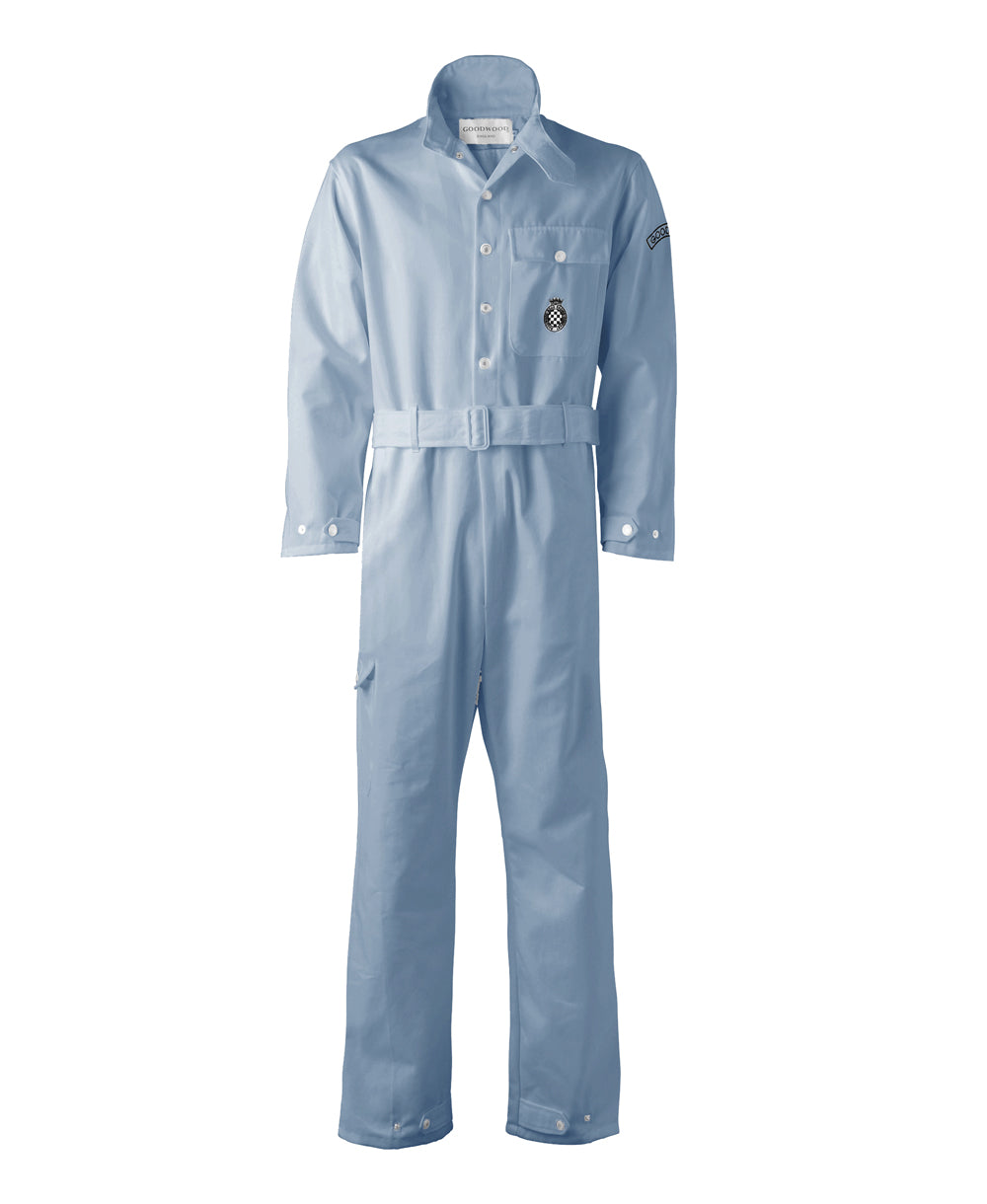 Goodwood Light Blue Cotton Unisex Grrc Overalls