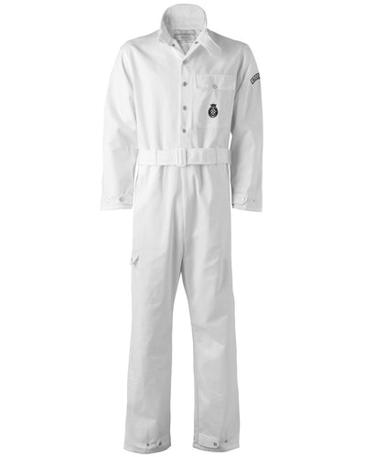 Goodwood White Cotton Unisex Grrc Overalls