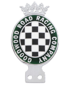 Goodwood Enamel And Chrome Bottom Fitting Car Badge