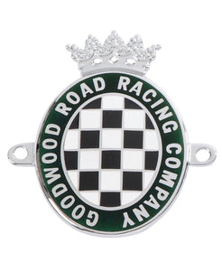 Goodwood Enamel And Chrome Side Fitting Car Badge
