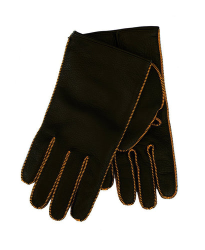 Goodwood Estate Deer Leather Tan Contrast Stitching Gloves