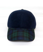 Load image into Gallery viewer, Goodwood Estate Navy Gordon Tartan Walking Cap Front