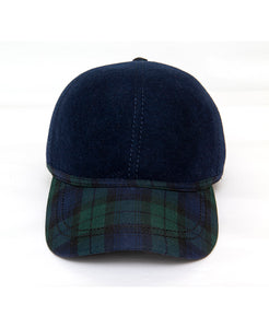 Goodwood Estate Navy Gordon Tartan Walking Cap Front