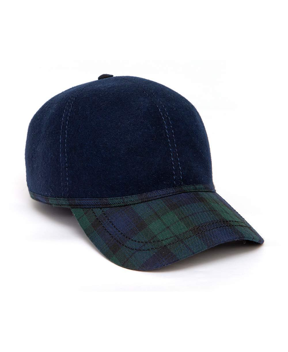 Goodwood Estate Navy Gordon Tartan Walking Cap