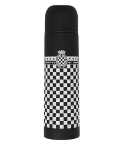 Goodwood Festival Of Speed Black White Aluminium Flask