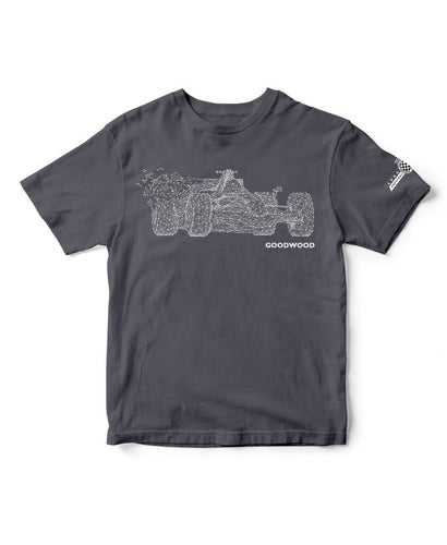 Goodwood Festival Of Speed Cotton F1 Abstract Grey T Shirt