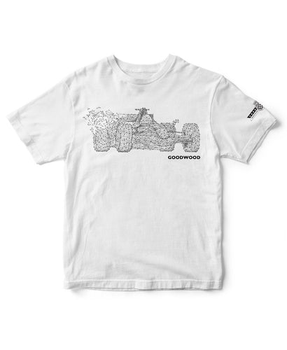 Goodwood Festival Of Speed Cotton F1 Abstract White T Shirt