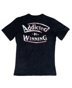 Goodwood Festival Of Speed Cotton Mens Black Addicted To Winning T Shirt