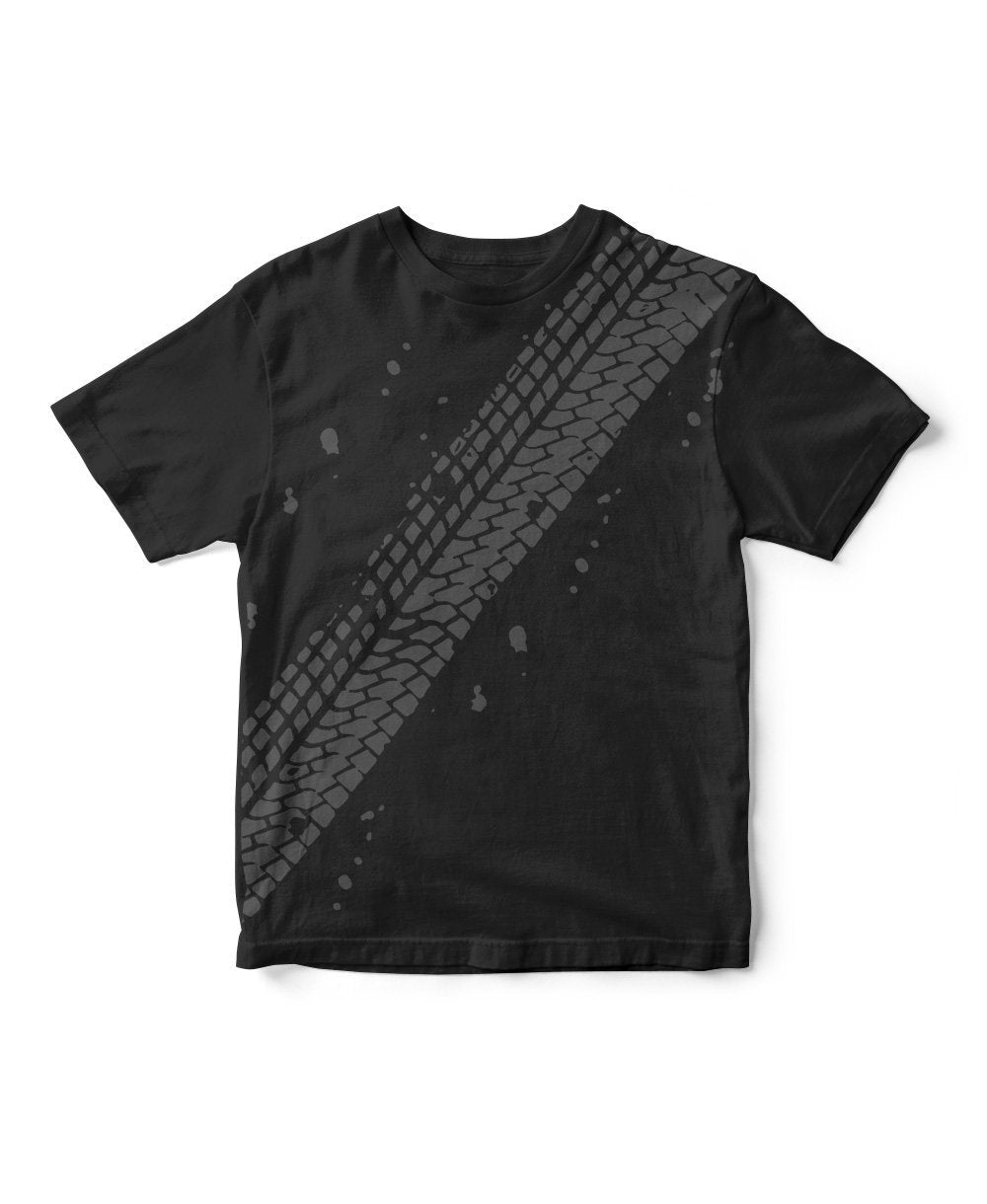 Goodwood Festival Of Speed Cotton Mens Tyre Tracks Black T Shirt