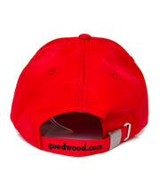 Load image into Gallery viewer, Goodwood Festival Of Speed Cotton Twill Childrens Red Black Baseball Cap Back