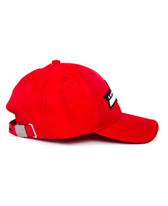 Goodwood Festival Of Speed Cotton Twill Childrens Red Black Baseball Cap Side