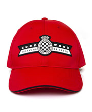 Load image into Gallery viewer, Goodwood Festival Of Speed Cotton Twill Childrens Red Black Baseball Cap