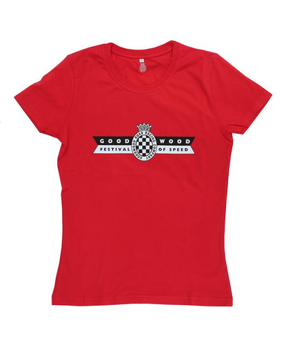 Goodwood Festival Of Speed Cotton Womens Red T Shirt