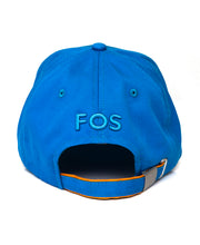 Load image into Gallery viewer, Goodwood Festival Of Speed Racing Colours Blue Orange Baseball Cap Back