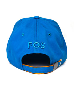 Goodwood Festival Of Speed Racing Colours Blue Orange Baseball Cap Back