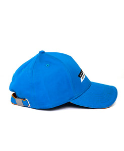 Goodwood Festival Of Speed Racing Colours Blue Orange Baseball Cap Side