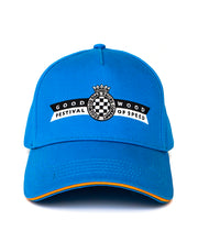Load image into Gallery viewer, Goodwood Festival Of Speed Racing Colours Blue Orange Baseball Cap