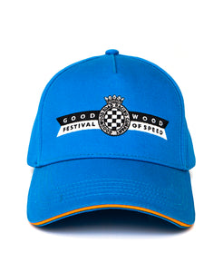 Goodwood Festival Of Speed Racing Colours Blue Orange Baseball Cap