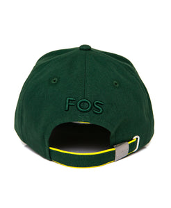 Goodwood Festival Of Speed Racing Colours Green Yellow Baseball Cap Back