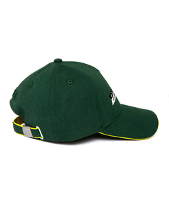 Goodwood Festival Of Speed Racing Colours Green Yellow Baseball Cap Side