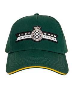 Goodwood Festival Of Speed Racing Colours Green Yellow Baseball Cap