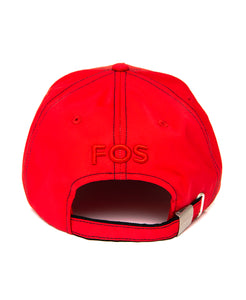 Goodwood Festival Of Speed Racing Colours Red Black Baseball Cap Back