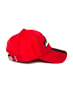 Goodwood Festival Of Speed Racing Colours Red Black Baseball Cap Side