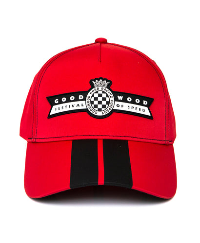 Festival of Speed Logo Red & Black Striped Baseball Cap