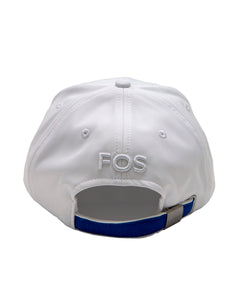 Goodwood Festival Of Speed Racing Colours White Blue Baseball Cap Back
