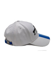 Load image into Gallery viewer, Goodwood Festival Of Speed Racing Colours White Blue Baseball Cap Side