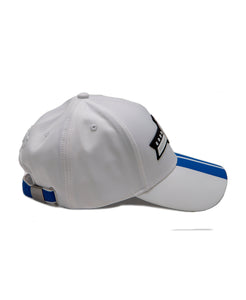 Goodwood Festival Of Speed Racing Colours White Blue Baseball Cap Side