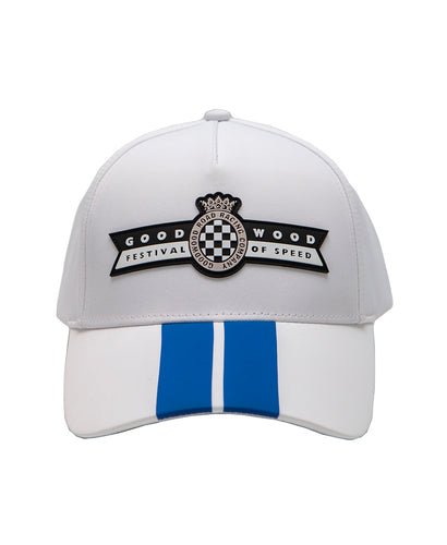 Goodwood Festival Of Speed Racing Colours White Blue Baseball Cap