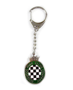 Goodwood Green Chequerboard Key Chain