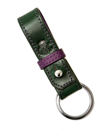 Goodwood Grrc Members Green Leather Keyring