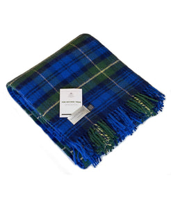 Goodwood Grrc Members Wool Gordon Tartan Limited Edition Throw