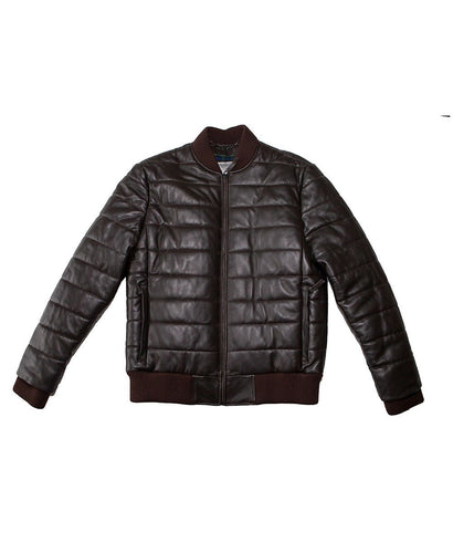 Goodwood Gsr Sports Racing Brown Italian Leather Quilted Gordon Tartan Lined Jacket