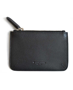 Goodwood Italian Leather A6 Coin Purse in Black