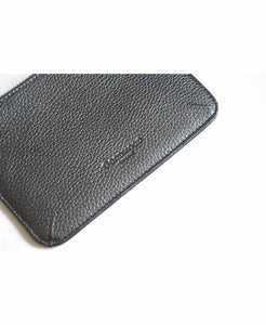 Goodwood Italian Leather A6 Coin Purse in Grey Detail